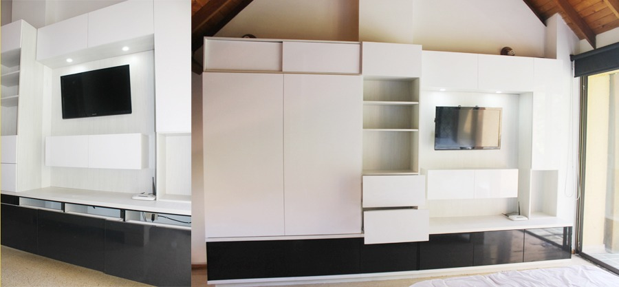 Modulo closet+biblioteca+Tv